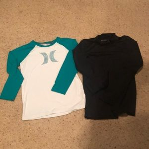 Hurley T-shirt and Under Armour Coldgear shirts